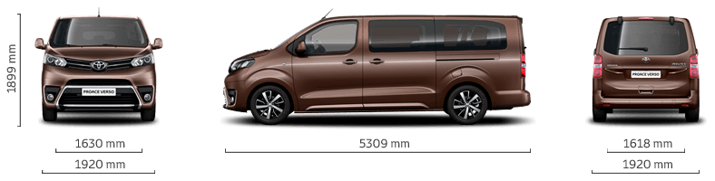 Toyota Proace EXTRA LONG , Diesel  8 Person car Transmission: AUTOMATIC